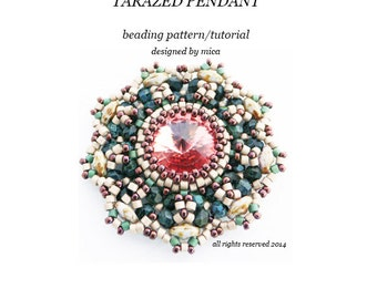Tarazed Pendant - Beading Pattern/Tutorial - PDF file for personal use only