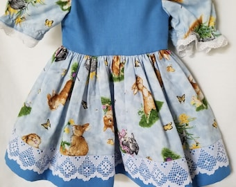 """Bunny Rabbit or Easter Dress for 18"""" Doll"""