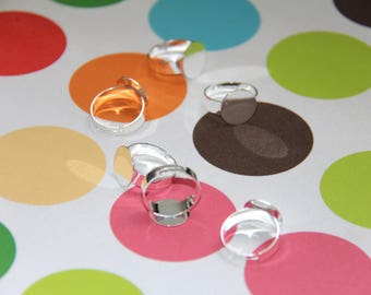 The silver ring with 14mm tray