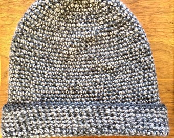 Gray and Silver Adult Beanie