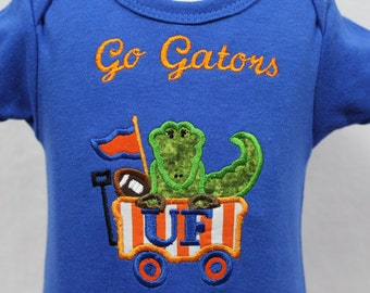 Florida Gators, Florida, baby boy clothing, baby clothing, personalized, baby shower gift, new baby gift, bodysuit, personalized, handmade