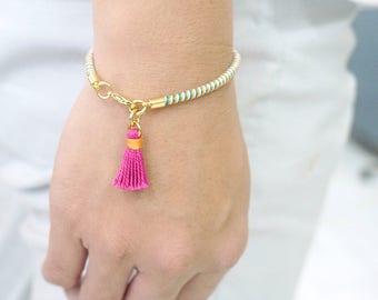Thin Bracelet Gift, Thin Stacking Bracelet, Thin Boho Bracelet, Dainty Bracelet, Summer Girl Bracelet, Simple Bracelet, Hippie Bracelet Gift