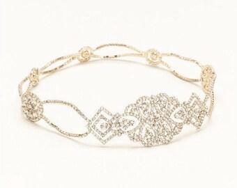 Crystal Headband, Gold Headband, Bridal Headpiece, Bridal Headband, Wedding Headpiece, Wedding Headband, Bridal Tiara, Art Deco Headband