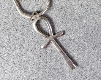 Vintage Sterling Silver Ankh Necklace