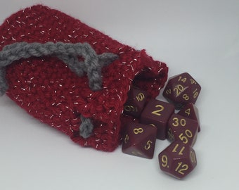 Dice Bag with Dice Set - Dungeons and Dragons