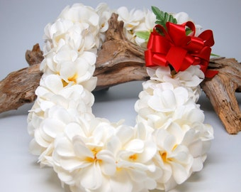 how to make a lei with fake flowers