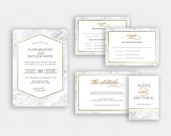 Wedding Invitation Template | Wedding Invitation, Wedding Printable | Wedding Invite Template, Wedding Suite, Instant Download | No. 2183