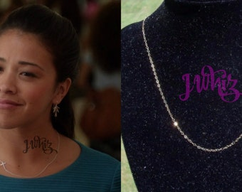 Jane The Virgin Cross Necklace, 14K Gold Fill, Sideways Cross, Centered Cross, Gina Rodriguez Necklace, Christian Jewelry, Sterling Silver