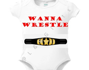 Bodysuit Baby Boy-Wrestling Clothes-Wrestling baby shower-Sports Gifts-Sports baby gift- Baby Boy Gift- Cute gift idea- Wrestling Baby-Gift