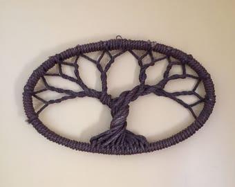 Handmade Rope Tree Wall Hanging