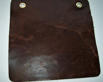 brown distressed leather 12x12