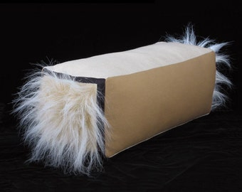 Veliarca Tan Box Bolster Decorative Throw Pillow 6 x 18 inches