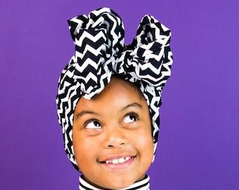 Black & White Print head wrap | Mono print Head wrap | Ankara Print headscarf | African wax print material | Print Head Scarf