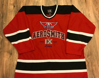 Vintage Aerosmith 9 Lives World Tour Hockey Jersey