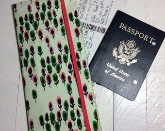 Tall Travel Wallet for Passport Boarding Passes, Travel Organizer for 1-2 Passports, International Passport Holder, Travel Accessory