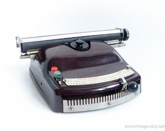 Index rare machine à écrire jouet Optima Bambino / machine à écrire en bakélite des années 50 / travail