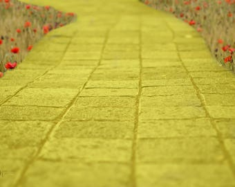 Yellow brick road digital background