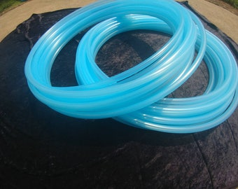 Translucent synergy blue  PolyPro Collapsable for Travel with Push Pin Lock dance performance hula hoop