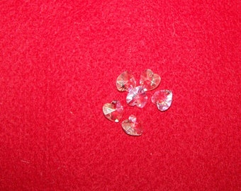 10 3X10mm white transparent swarovski crystal hearts