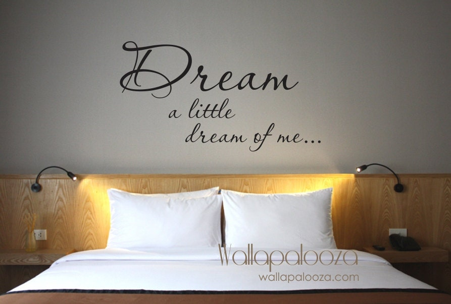 Bedroom wall decor Dream a Little Dream of Me wall decal
