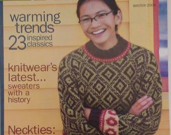 Interwweave Knits kntting magazine winter 2004 -  23 patterns