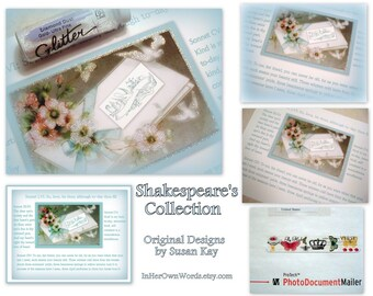 Shakespeare, Literary Gifts, Groom to Bride Gift, Something Blue, Art by Susan Kay