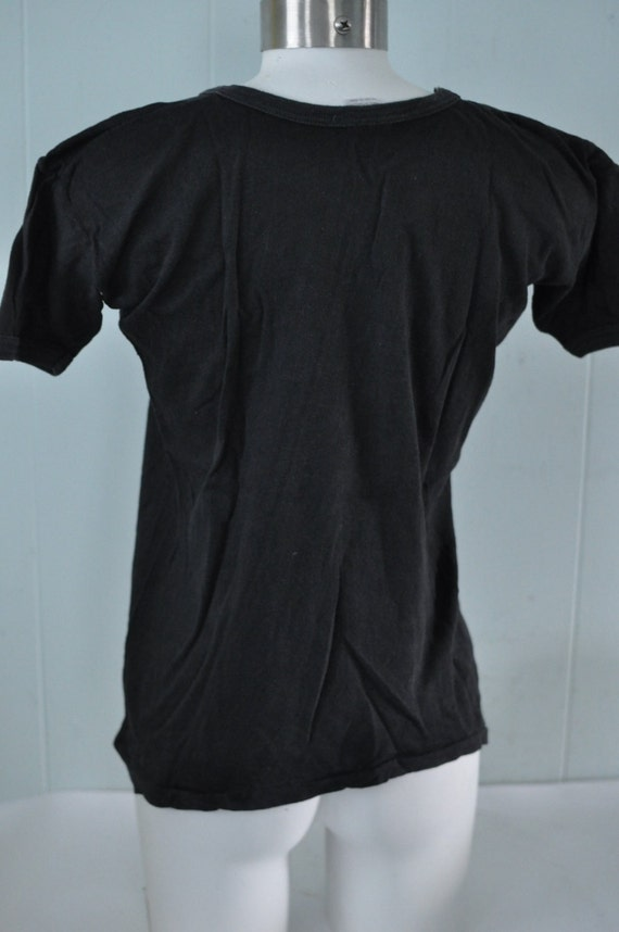 Tshirt Soft 80s MEDIUM John Small black 70s Thin Tee faded Vintage Super Lennon Beatles n 5xfvnRnqT