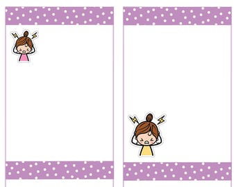 Headache Migraine Stickers, Sick day Stickers, Planner Stickers -032