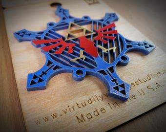 Hyrule Inspired Snowflake Ornament