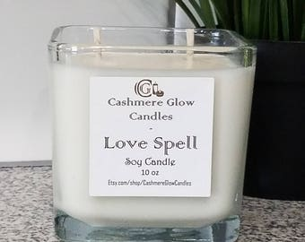 10 oz. Natural Soy Candle, Hand Poured, Glass container, Cotton Wick