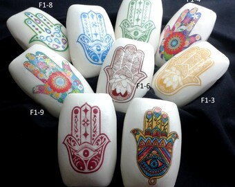 Hand-decorated handmade fatima soaps-F1