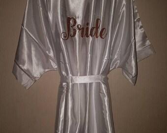 Wedding satin robe