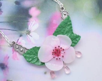 Necklace cherry blossom and leaves