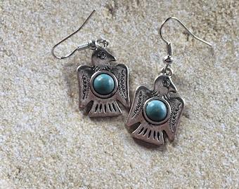 Blue and Silver Southwestern Earrings, Dangle Earrings, Southwest Jewelry, Jewelry For Her, Gift Ideas