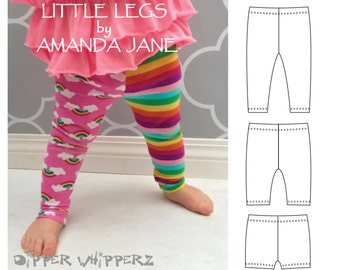PDF leggings pattern | Boys legging pattern | Girls legging pattern| Baby Leggings | Cloth Nappy pattern | Shorts Pattern | PDF Pattern