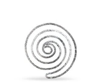 Sterling silver 925 handmade bookmark spiral