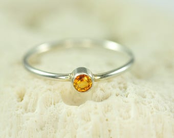 custom birthstone ring in sterling silver - mothers ring - natural gemstone ring - birthday gift for her - gift for mom - promise ring