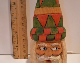 Ornament, Santa, Tall Hat