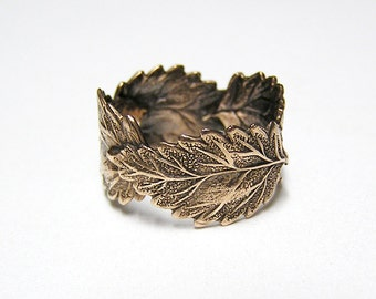 Forest Leaf Ring band (br)