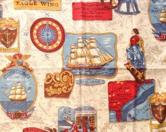 Couvre-oreiller Standard fermeture éclair Vintage décor nautique, bord filaire, comme neuf