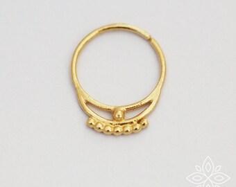 Septum ring, Solid gold septum, Septum piercing, Gold cartilage, Cartilage piercing, Tragus hoop earring, Helix hoop earring, Nose piercing