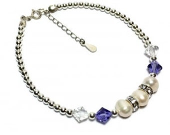 Sophie-May Swarovski and Freshwater pearl bracelet