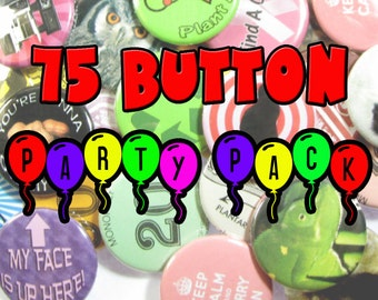 Pinback Button 75 Party Pack
