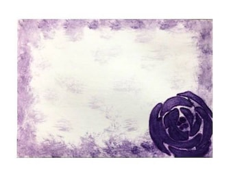 Note cards for any occasion in purple watercolor design