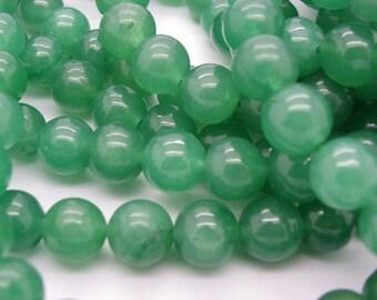 25 10 mm Green Emerald jade sprinkled natural hue