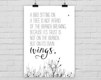 """fine-art print """"TRUST"""" photo birds wings"""