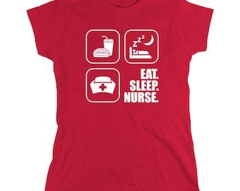 Eat. Sleep. Nurse shirt, Awesome Nurse Shirt, Shirt for Nurse Graduate - ID: 159