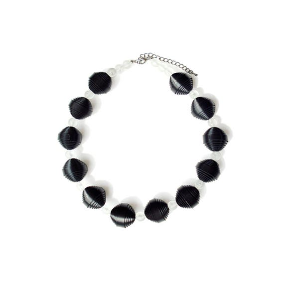 Genuine Leather Ball Necklace