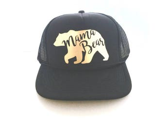 Trucker Hat- Mama Bear mesh Trucker Hat