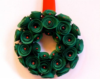 Paper Flower Christmas Decorations